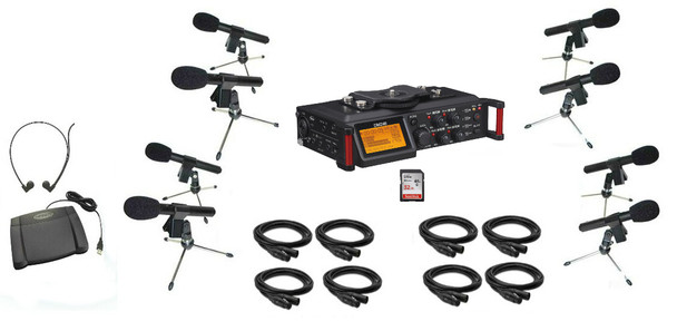 Courtroom Recording System 4 Track with 8 court microphones solution