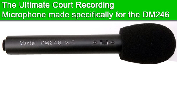 Courtroom recording equipment system microphone