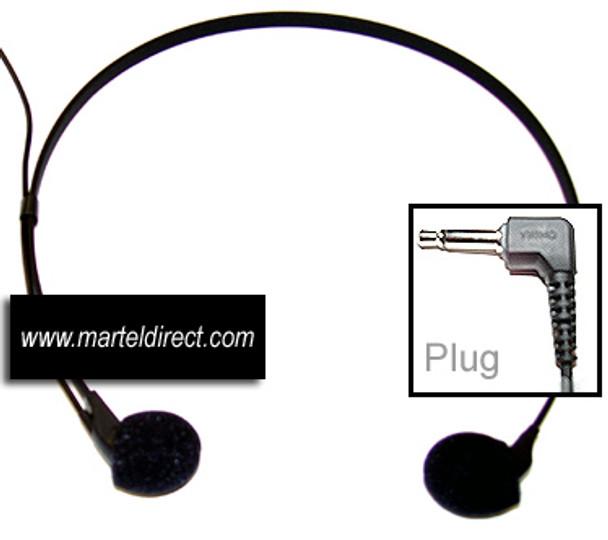 Headset for transcribing