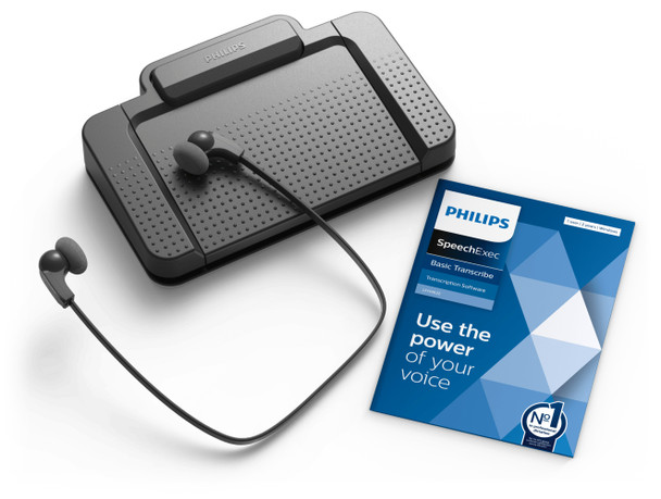 Philips Transcription kit with 3 way foot pedal and headset