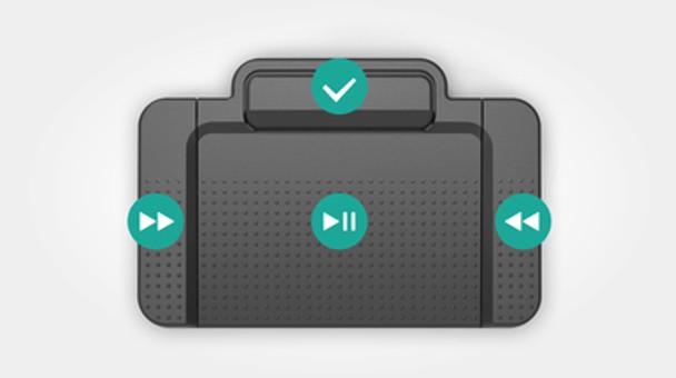 Philips Transcription kit foot pedal USB