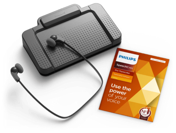 Philips USB Transcription kit 3 way foot pedal
