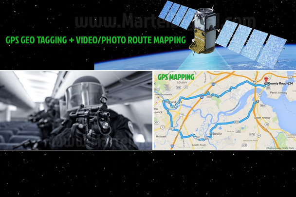 Gps Geo-mapping on body police camera with Google maps integration