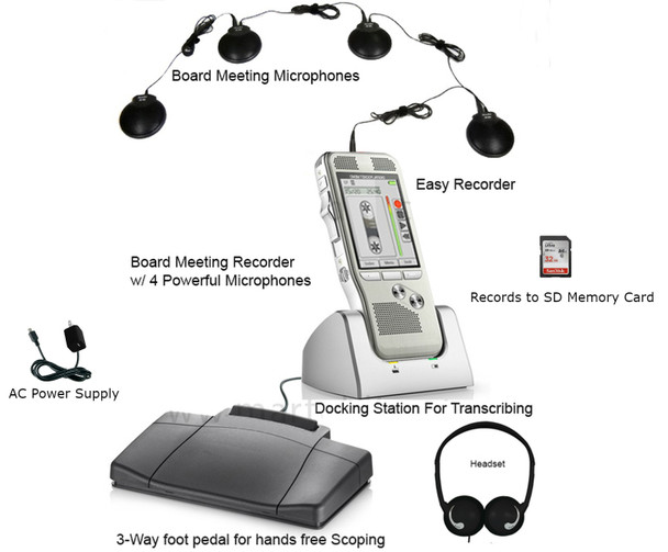 Board Meeting Recorder portable for audio voice recording