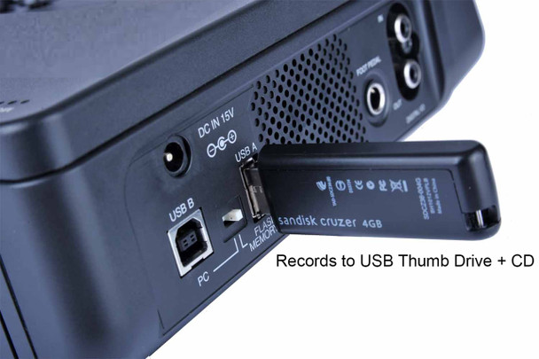 CD Recorder uses a USB Thumb drive to record the audio + the CD, 2 easy ways to archive the audio