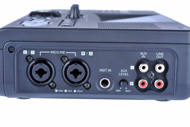two microphone xlr jacks on the cd recorder