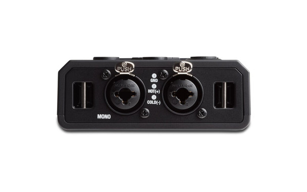 Microphone inputs on meeting recorder 1/4 and XLR