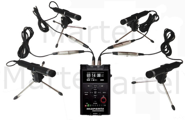 Worlds only 4 Microphone Conference Recorder Equipment package