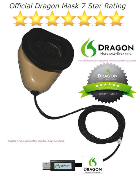 World's only Dragon Certified Stenomask Voice Recognition