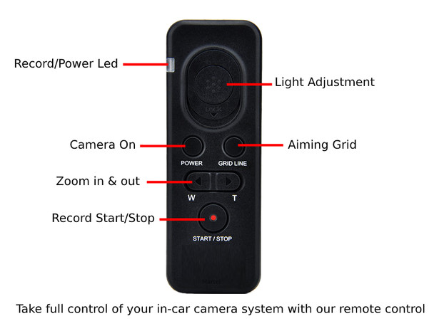 worlds only officer record remote control joystick for activating the police dash cam system