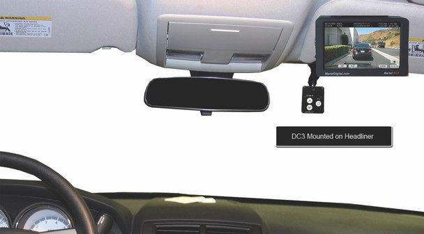 DC3 police car camera system with touchscreen