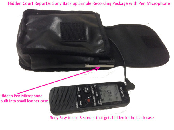 Hidden/concealed court reporter digital voice Sony recorder