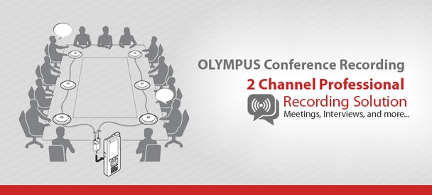 Olympus Conference Recording System - 4 Meeting Microphone Package