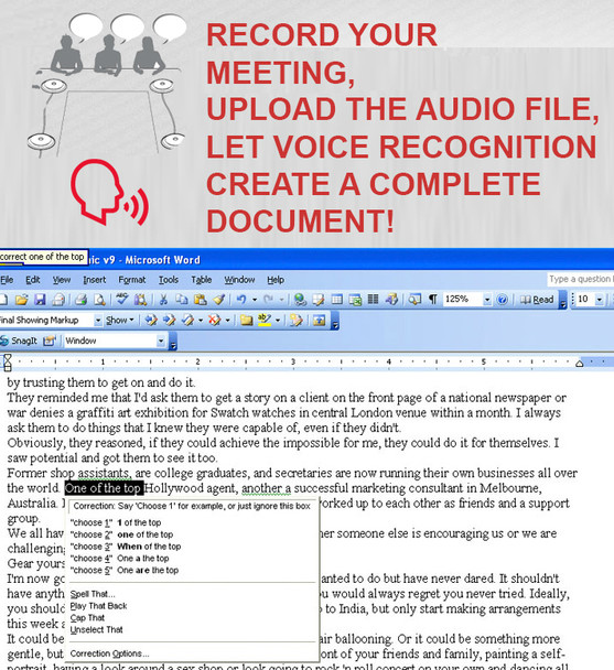 Ghost Writer Multiple-person recorder and voice recognition system- world First and only multiple voice recognition solution