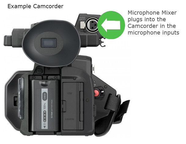 Martel Court Reporter Legal video bundle microphone mixer plugs directly into camcorder so simple