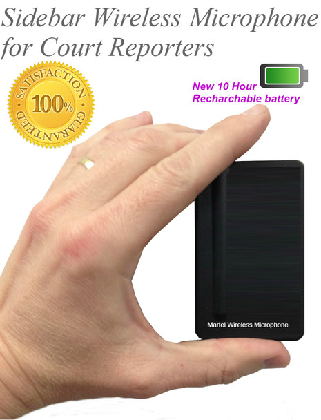 Wireless Steno Writer Microphone world only unit made exclusively for Court Reporters
