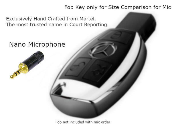 Nano Court Reporter Microphone, Exclusively hand crafted by Martel the most trusted name in Court Reporting