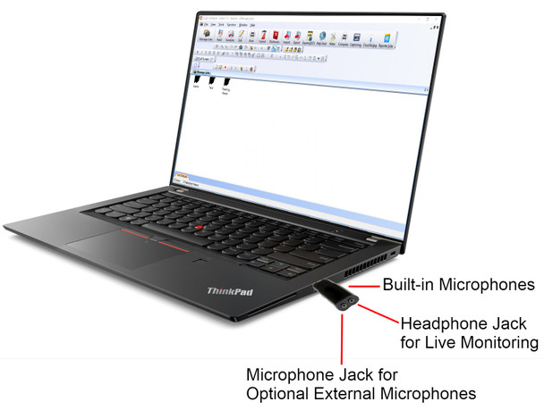 USB 6 Court reporter microphone