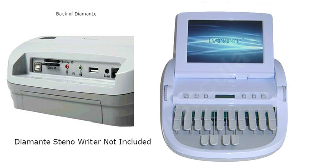 Diamante writers microphone for Stenograph writer exclusive made for Court Reporters