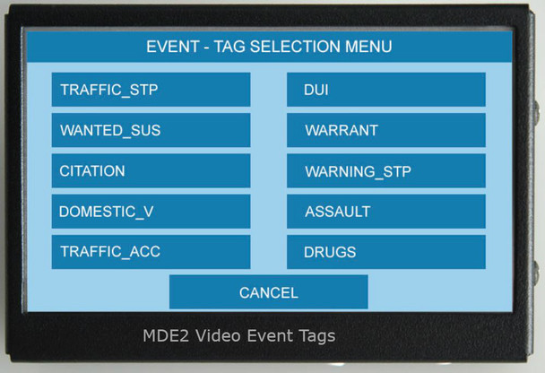 MDE2 Video Event Tags