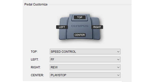 Olympus digital transcriber foot pedal for legal secretary