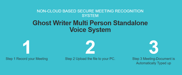 Stop Typing let multi person voice recognition Ghost Writer type for you