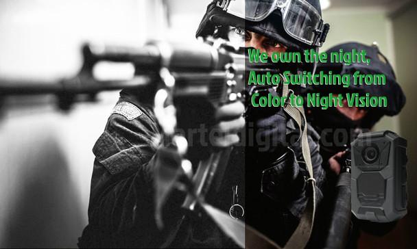 Night vision police body camera