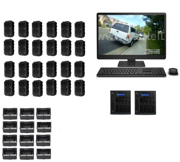 24 officer police body camera system