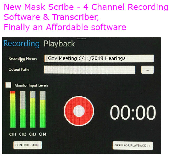 Voice Writers Court reporters Steno mask recording software