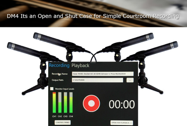 4 channel courtroom recorder