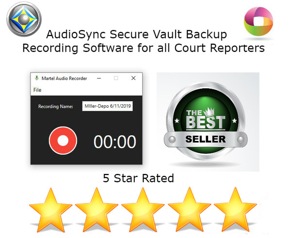 AudioSync Secure Vault Backup Recording Software for all Court Reporters