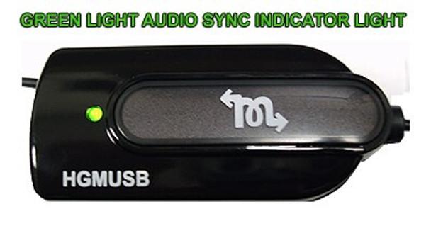 Green light indicates recording with audiosync programs
