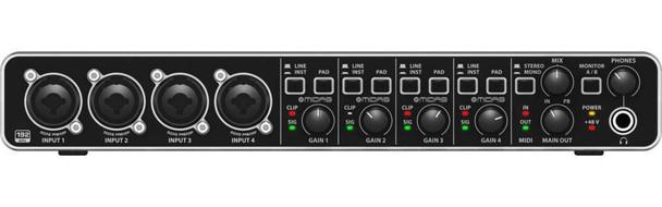 Front of 4 channel courtroom USB mixer