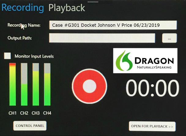 Martel Exclusive DM4  Four Channel court recording software