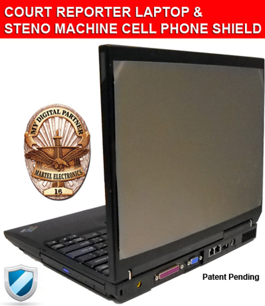 COURT REPORTER LAPTOP & STENO MACHINE CELL PHONE SHIELD