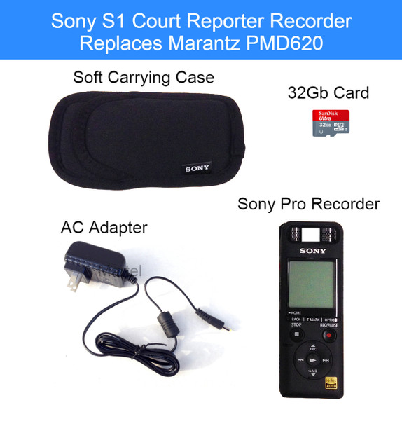 S1 Court Reporter Recorder Exclusively from Martel