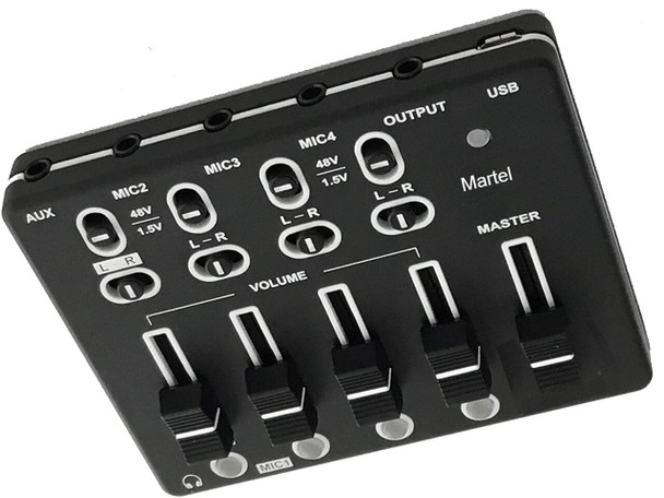 Exclusive microphone USB mixer for court reporting only from Martel