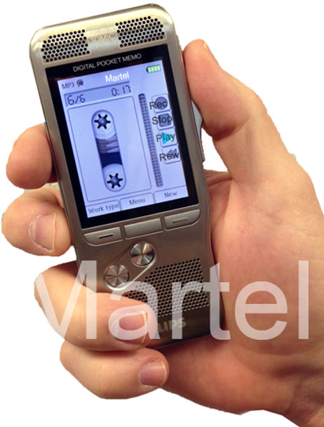 Professional Philips Dictation Recorder in the hand