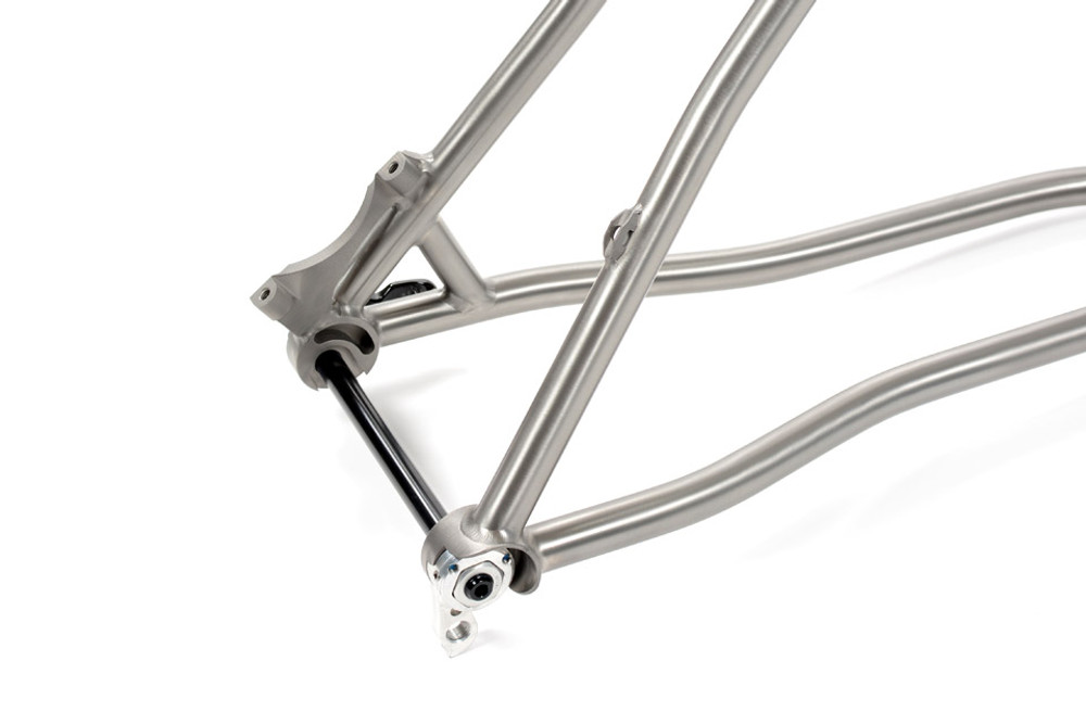 Wright Style Drop Outs with Replaceable Derailleur Hanger and Index-able Axle Nut