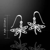 Dragonfly Earrings (Sterling Silver)