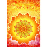 Tangerine Thanks Card (Thank You Message)