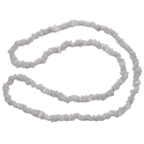 (32 Inch) Crystal Chip Necklace - Blue Lace Agate