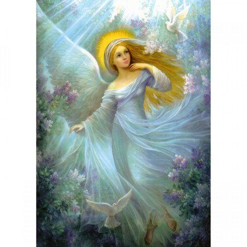Lilac Angel Card (Message)