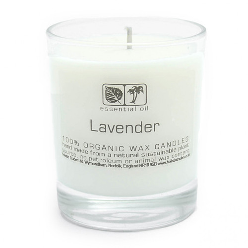 Large Organic Wax Candle - Lavender