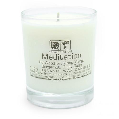 Large Organic Wax Candle - Meditation