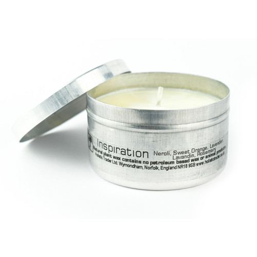 Inspiration Travel Tin Candle (with essential oils)