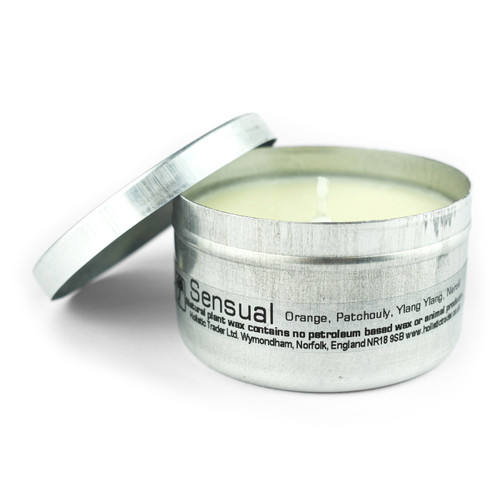 Sensual Travel Tin Candle (with essential oils)