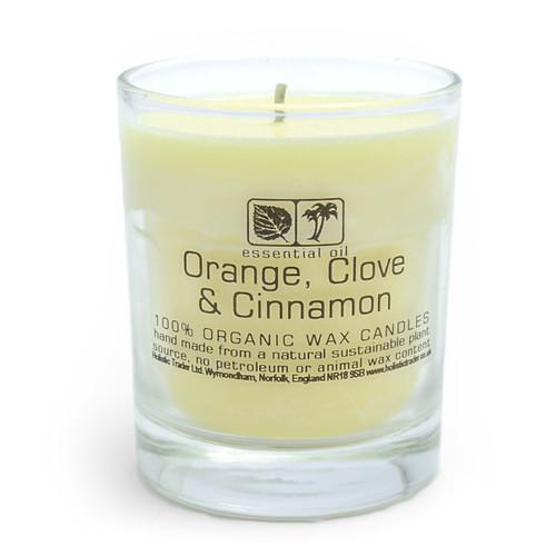 Large Organic Wax Candle - Orange & Cinnamon