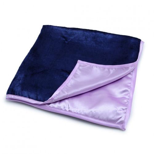 Large Purple/Lilac Reading Cloth - Velvet/Satin 60 x 60cm