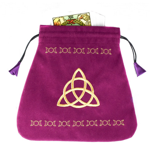 Purple Velvet Triple Goddess  Tarot / Oracle Card Bag
